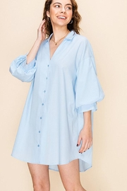 Favlux Tunic Shirt Dress - Front cropped