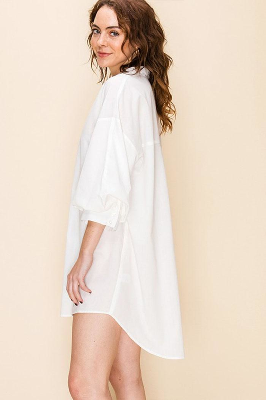 Favlux Tunic Shirt Dress - Front Full Image