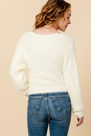 Favlux V-Neck Cropped Cardigan - Side cropped