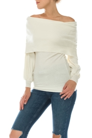 Favlux White Off Shoulder Sweater - Product Mini Image