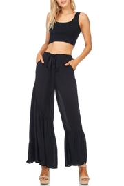 Favlux Wide Ruffle Leg Pants - Front cropped