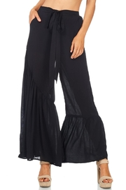 Favlux Wide Ruffle Leg Pants - Front full body