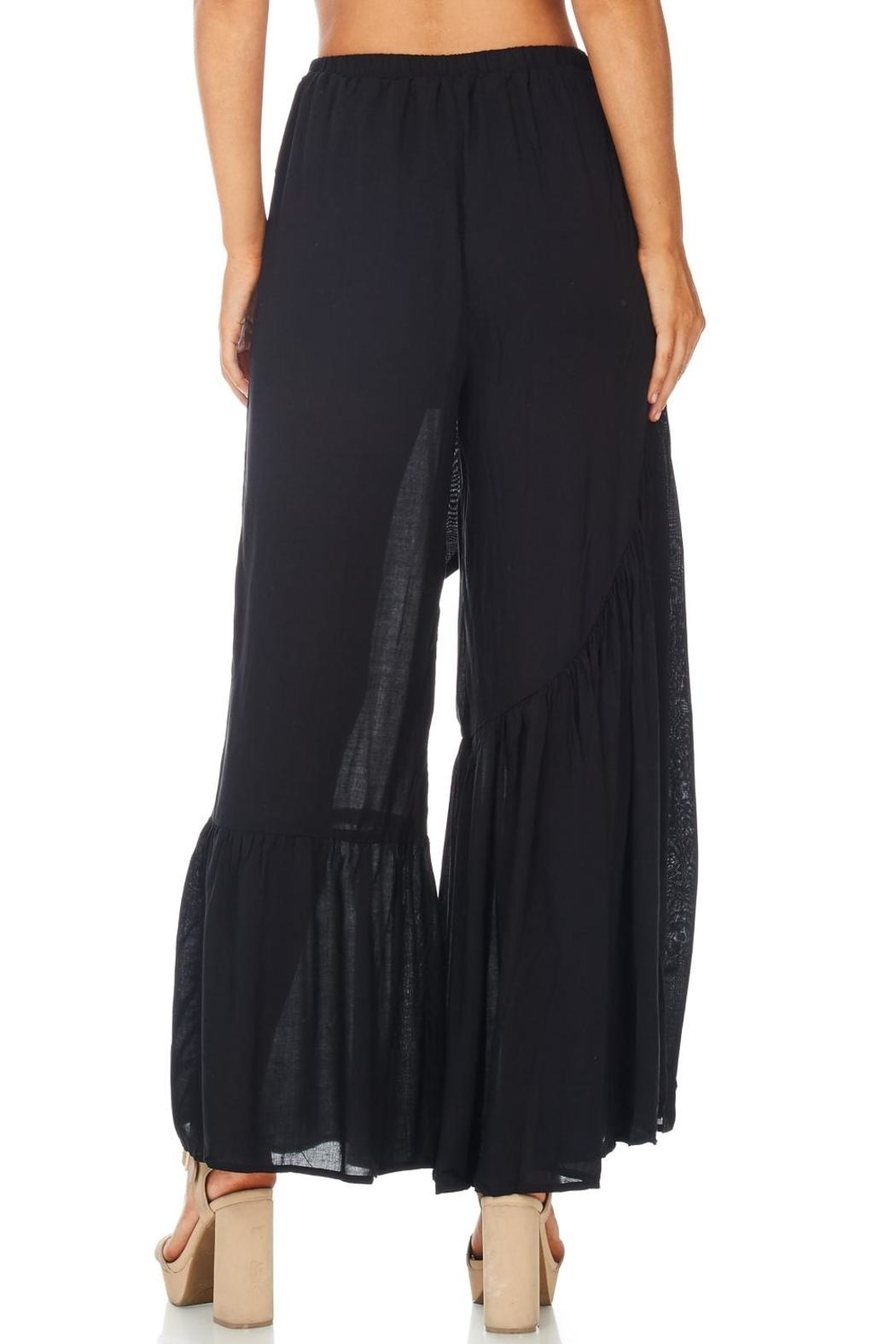 Favlux Wide Ruffle Leg Pants - Side Cropped Image