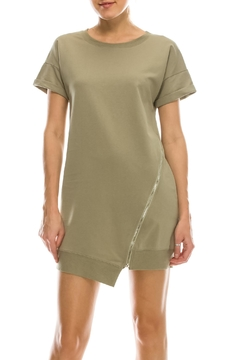 Shoptiques Product: Zipper Tshirt Dress