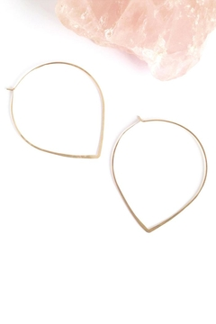 Shoptiques Product: Gold Petal Hoops