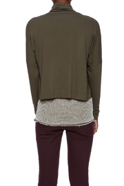 Favori Olive Cropped Jacket - Back cropped