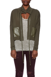 Favori Olive Cropped Jacket - Side cropped