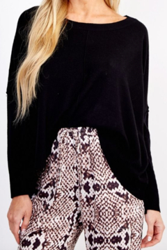 Olivaceous  Favorite Black Sweater - Product List Image