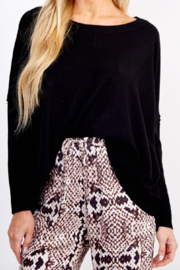 Olivaceous  Favorite Black Sweater - Product Mini Image