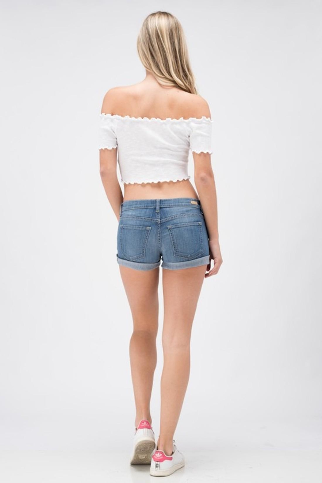 Sneak Peek Favorite Jean Shorts - Back Cropped Image