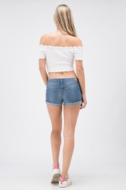 Sneak Peek Favorite Jean Shorts - Back cropped