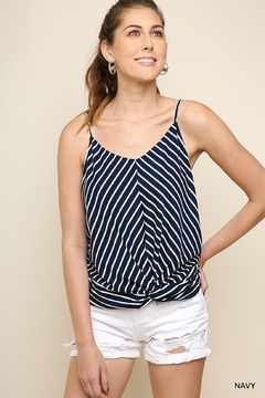 Umgee USA Favorite Navy-Stripes Top - Product List Image