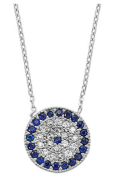 Allie & Chica Favorite Silver Evil Eye Necklace - Product List Image
