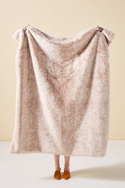 Anthropologie Fawn Faux Fur Throw - Front cropped