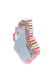 Stride Rite Faye Fringe Crew Socks - Product Mini Image