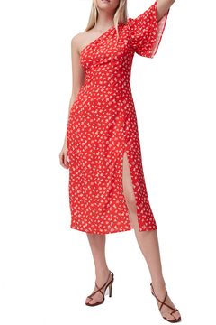 French Connection Fayola One Shoulder Midi Dress - Alternate List Image