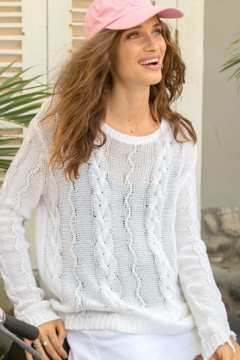 Wooden Ships FAYRE CABLEKNIT SWEATER - Alternate List Image