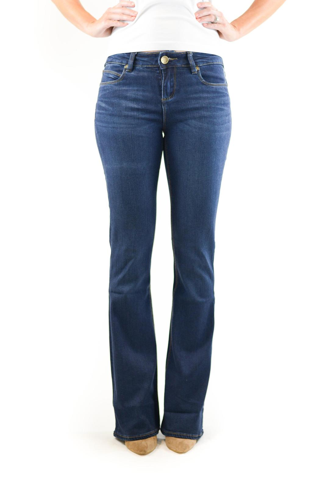 Kut from the Kloth Slim Bootcut Denim - Front Cropped Image