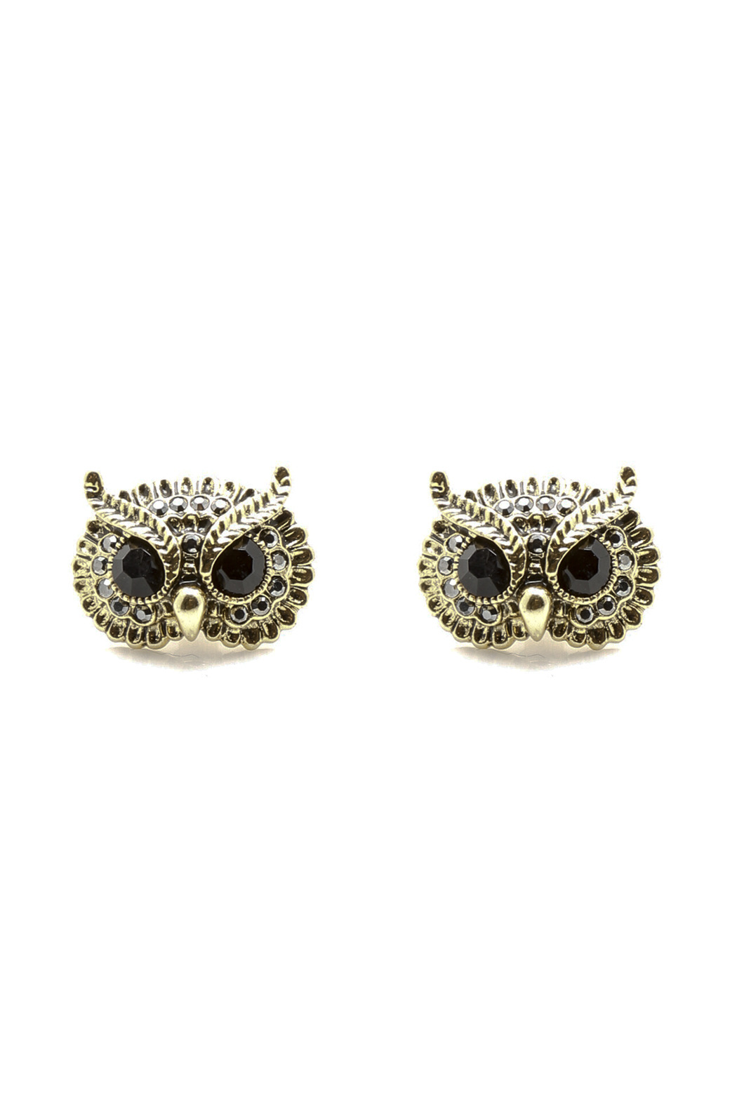 Jaqueline Kent Owl Earrings - Front Cropped Image