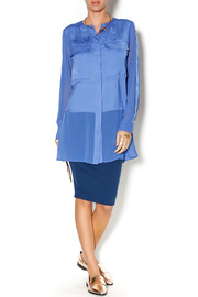 Shoptiques Product: Cobalt Blue Tunic - Front full body