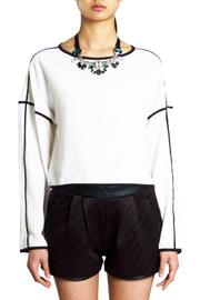 Endless Rose Contrast Crop Blouse - Front full body