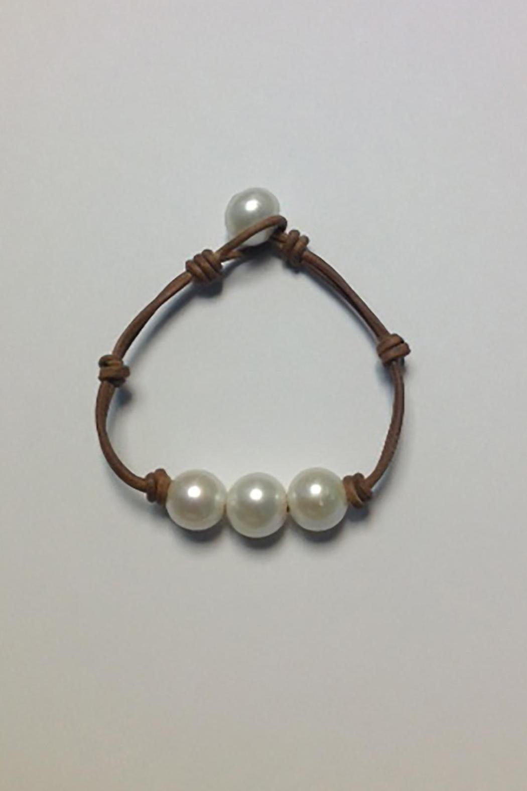 Lily Chartier Pearls Triple Pearl Bracelet - Front Cropped Image