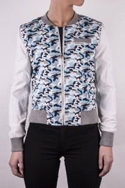 Shoptiques Product: Camouflage Baseball Jacket
