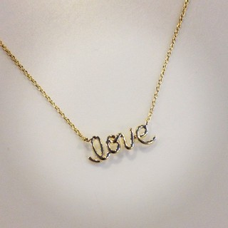 Shoptiques Product: Script love necklace