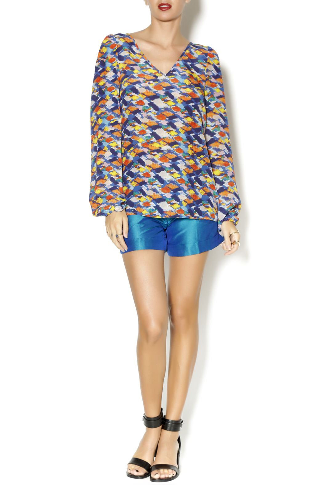 By Smith Monet Multicolor Blouse - Front Full Image