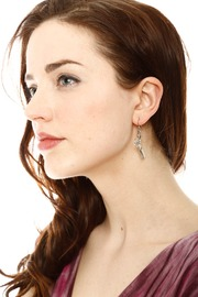 Shoptiques Product: Silver Scissor Earrings - Front full body