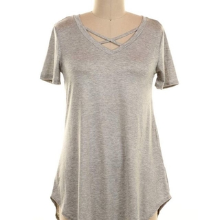 Shoptiques Product: Gray Strappy Tunic Top