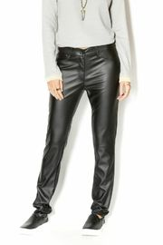 Uldahl Fitted Faux Leather Pant - Product Mini Image