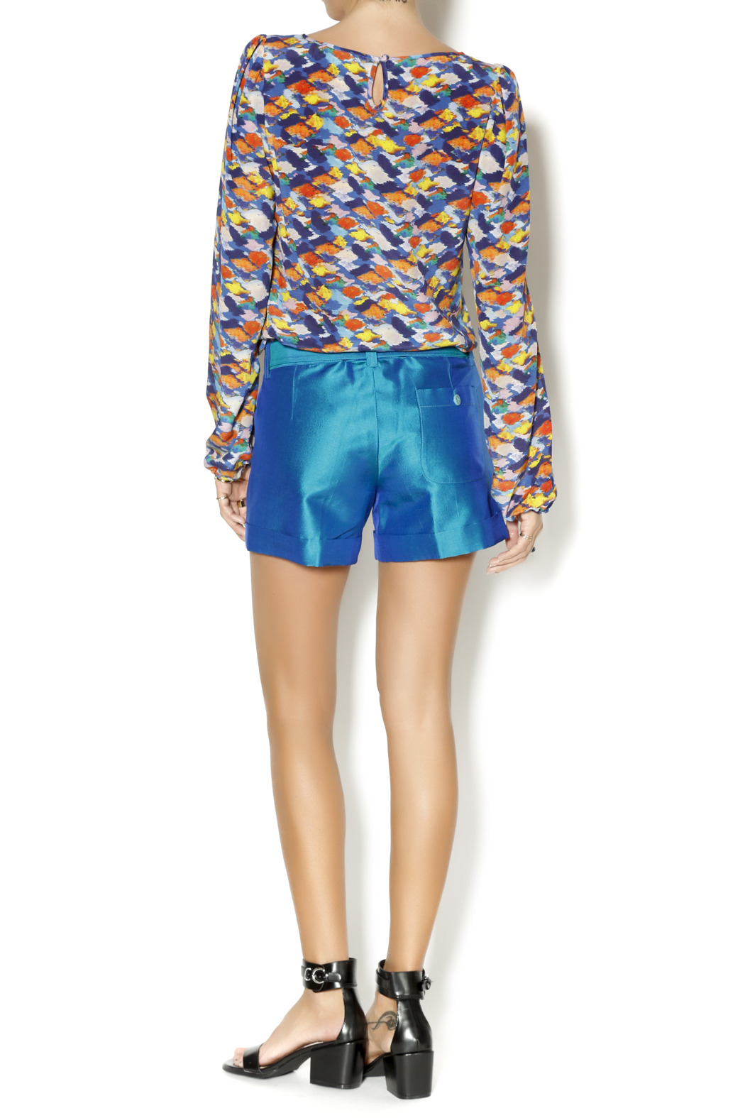By Smith Soho Teal Shorts - Side Cropped Image