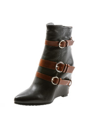 Shoptiques Product: Contrast Buckle Ankle Boot