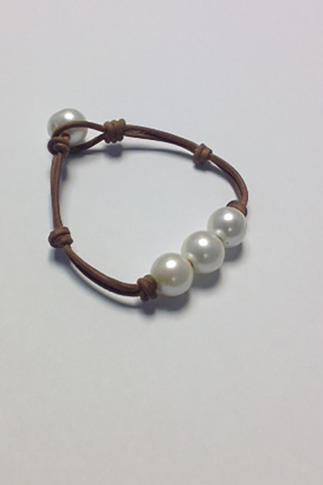 Lily Chartier Pearls Triple Pearl Bracelet - Side Cropped Image
