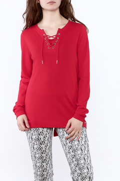Shoptiques Product: Red Long Sleeve Sweater