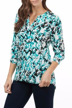 FDJ French Dressing Chevron Popover Blouse - Product List Image