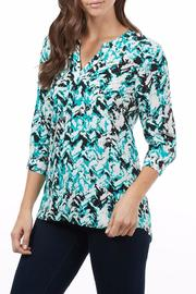FDJ French Dressing Chevron Popover Blouse - Product Mini Image