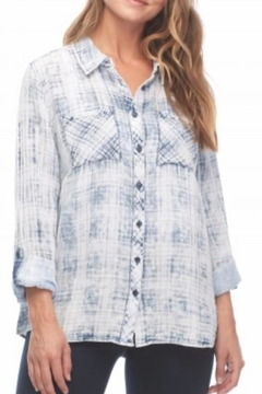 FDJ French Dressing Denim Plaid Top - Product List Image