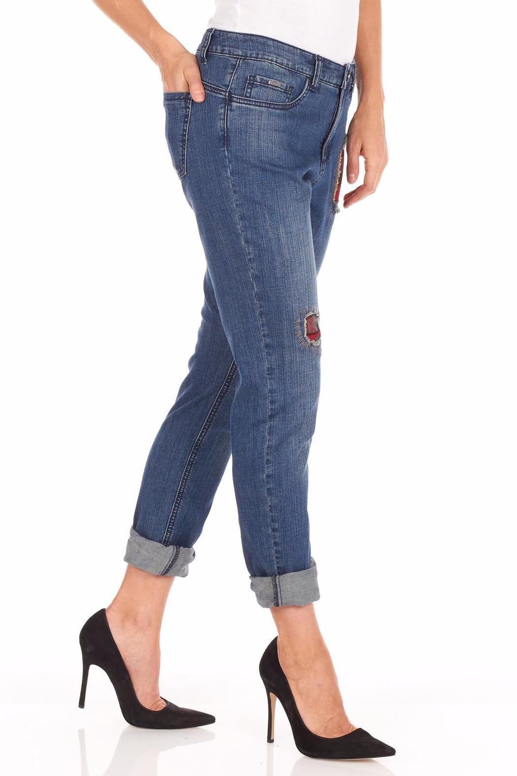 FDJ French Dressing Flannel Patchwork Jeans - Side Cropped Image