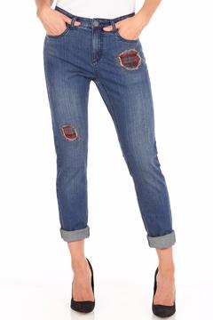 FDJ French Dressing Flannel Patchwork Jeans - Product List Image