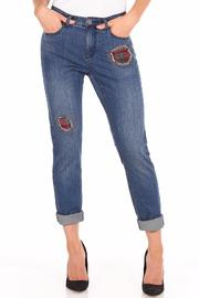 FDJ French Dressing Flannel Patchwork Jeans - Product Mini Image