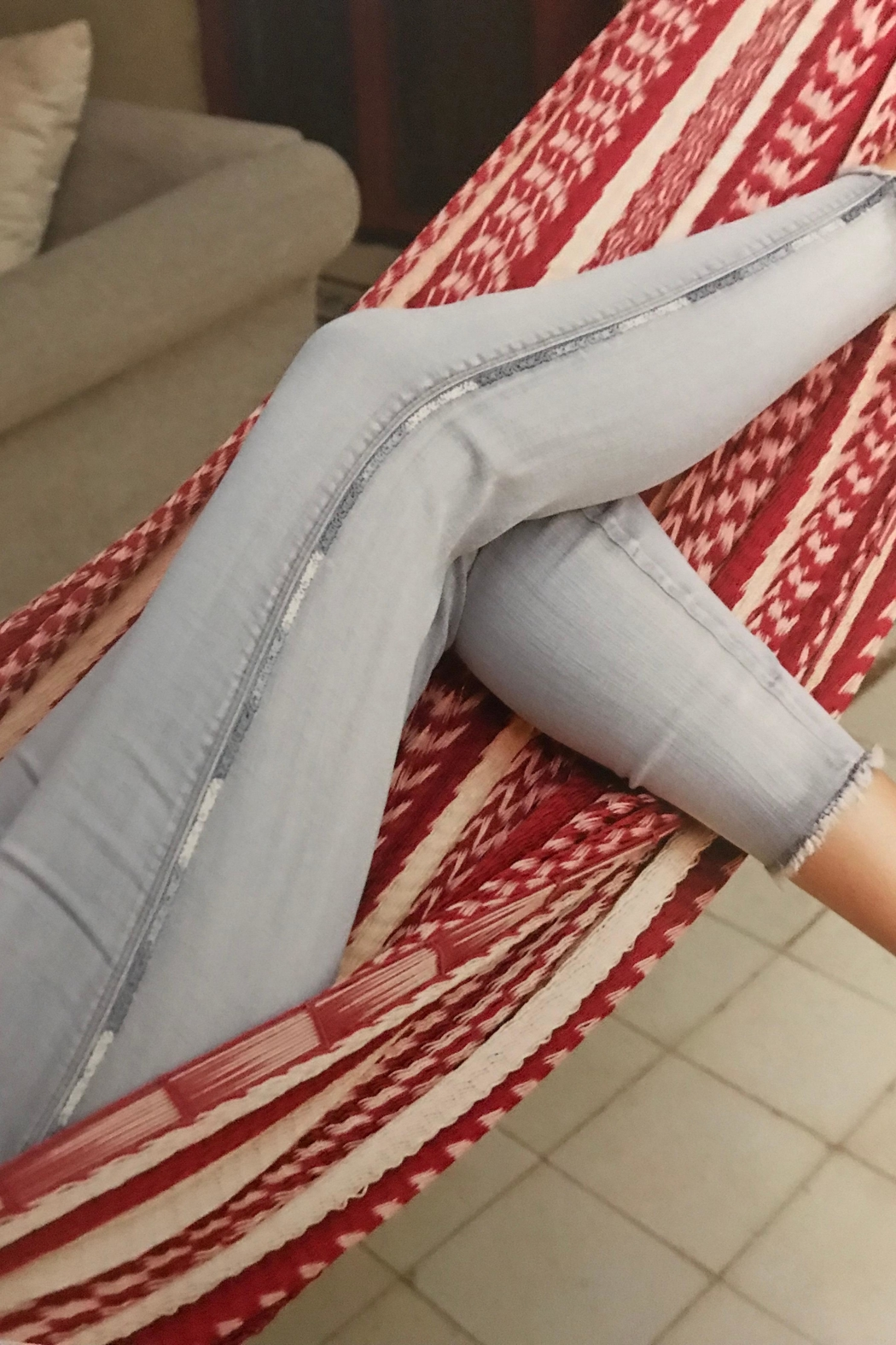 FDJ French Dressing Grey Ankle Jeans - Main Image