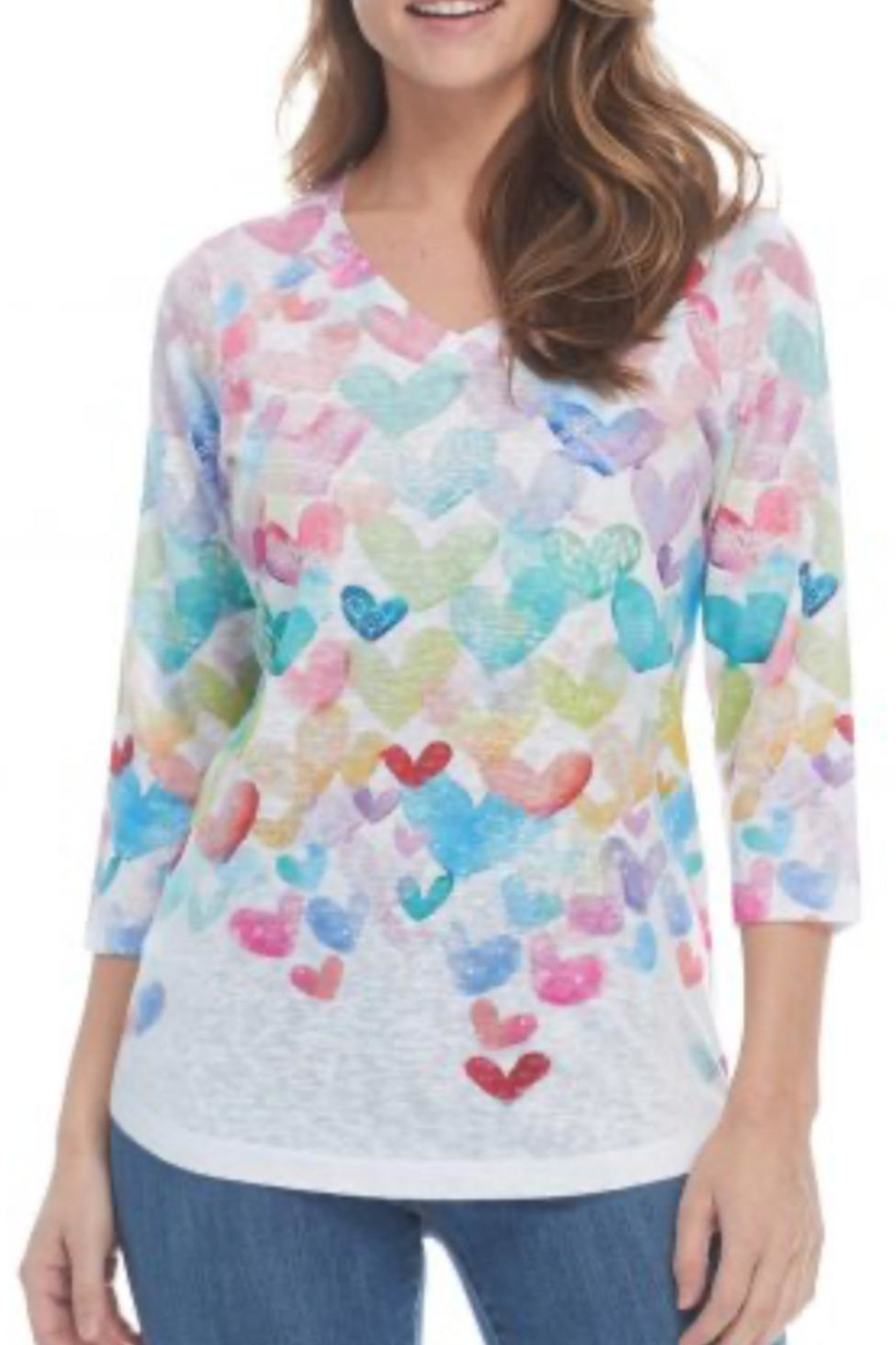 FDJ French Dressing Heart Print Top - Main Image