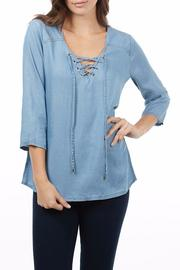 FDJ French Dressing Lace Up Chambray Top - Product Mini Image