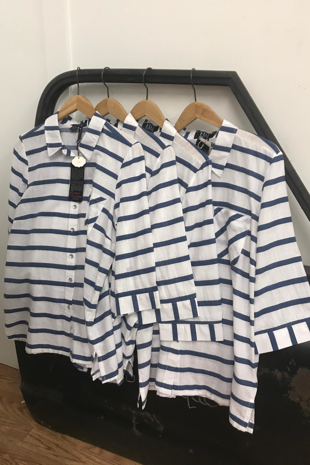 FDJ French Dressing Nautical Or Nice Blouse - Front Full Image