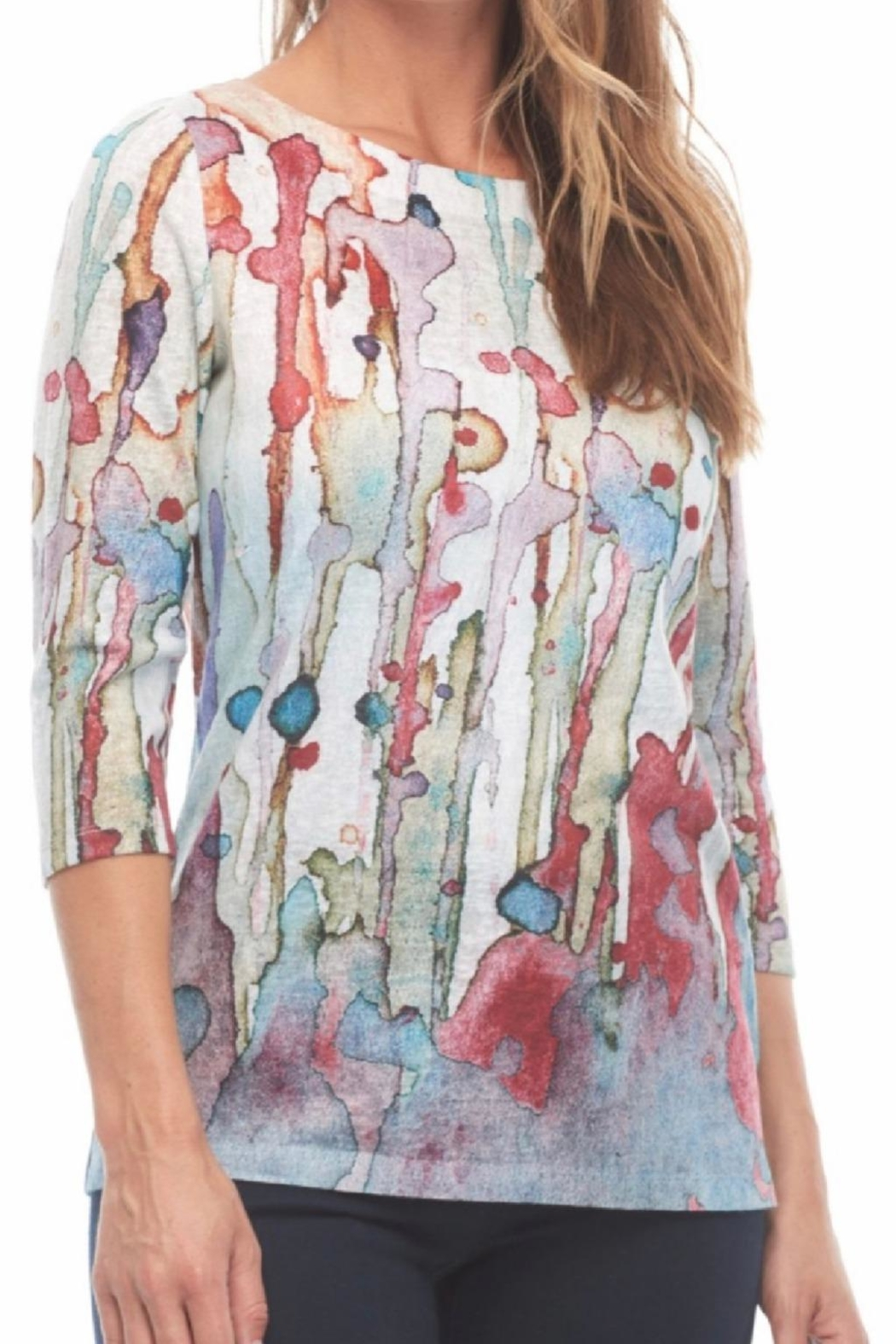 FDJ French Dressing Print Painted Top - Main Image