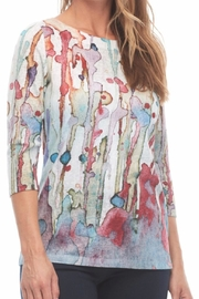 FDJ French Dressing Print Painted Top - Product Mini Image