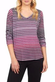 FDJ French Dressing Rainbow V Neck Tee - Product Mini Image