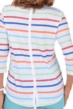 FDJ French Dressing Stripped Button Back Top - Alternate List Image